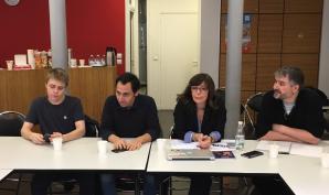 Conf de presse avec le syndicat des avocats de France, l'UNL et le SNPES FSU PJJ